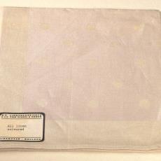 Roze/wit vingerdoekje met noppen - Kitty van der Mijll Dekker (Fischer-), Linnenfabrieken E.J.F. van Dissel & Zonen (Eindhoven), Textielmuseum (registratiefoto), Textielmuseum (registratiefoto)