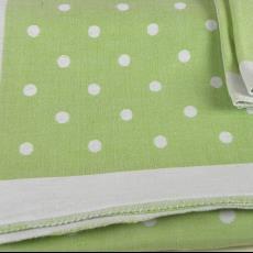 'Nopje', groen tafellaken met servetten - Linnenfabrieken E.J.F. van Dissel & Zonen (Eindhoven), Textielmuseum (registratiefoto), Kitty van der Mijll Dekker (Fischer-)