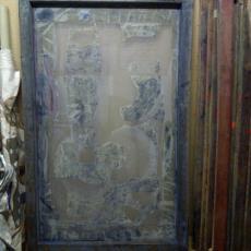 Zeefdrukramen van ontwerp 'Windvaan' - Klaas van Biezen, Textielmuseum, Textielmuseum, Het Paapje (Voorschoten), Textielmuseum