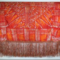 Gebatikt vleugelkleed - Louis Bogtman (toegeschreven), Textielmuseum (registratiefoto), Textielmuseum (registratiefoto)