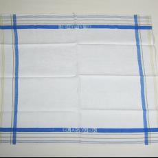 Glasdoek met ingeweven naam 'Glasdoek' - Textielmuseum (registratiefoto), Textielmuseum (registratiefoto), Textielmuseum (registratiefoto)