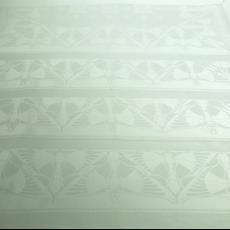 Proefstaal van randmotief servet 'Vlinder' (dessinnr. 505) - Chris Lebeau, Linnenfabrieken E.J.F. van Dissel & Zonen (Eindhoven), Textielmuseum (registratiefoto)