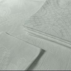 Tafellaken met vingerdoekjes 'Aalbes' (dessin 610) - Textielmuseum (registratiefoto), Linnenfabrieken E.J.F. van Dissel & Zonen (Eindhoven), Chris Lebeau, Textielmuseum (registratiefoto)