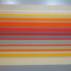 Dessin met strepenpatroon in felle kleuren. - Koninklijke Van Besouw (Goirle), Textielmuseum (registratiefoto), Diek Zweegman, Textielmuseum (registratiefoto), Textielmuseum (registratiefoto), Joost van Roojen