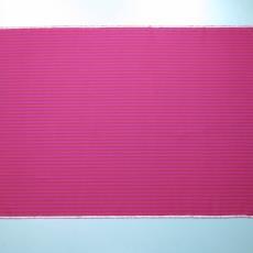 Dessin met rose-rood strepenpatroon. - Weverij De (Bergeijk) Ploeg (?), Joost van Roojen, Textielmuseum (registratiefoto)