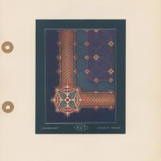 Presentatietekening voor art nouveau Darrab tapijt, dessin 6010A - Koninklijke Vereenigde Tapijtfabrieken (Deventer), onbekend