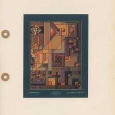 Presentatietekening voor geometrisch Darrab tapijt, dessin 6034A - Koninklijke Vereenigde Tapijtfabrieken (Deventer), onbekend