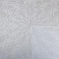 'Doorstraalde blaeren' (dessinnr. 613), servet - Chris Lebeau, Linnenfabrieken E.J.F. van Dissel & Zonen (Eindhoven), Textielmuseum (registratiefoto), Textielmuseum (registratiefoto)