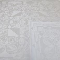 'Cyclamen' (dessinnr. 564), servet - Linnenfabrieken E.J.F. van Dissel & Zonen (Eindhoven), Textielmuseum (registratiefoto), Textielmuseum (registratiefoto), Chris Lebeau