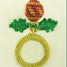 'Kerstring' (Christmas Ring) - Felieke van der Leest, Textielmuseum (registratiefoto)