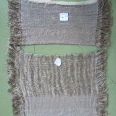Bindingsproeven voor het werk 'Vezels, bindingen en verfplanten' - kunstenaar, Textielmuseum, Nan Groot Antink