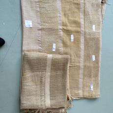 Weefproeven voor het werk 'Vezels, bindingen en verfplanten' - kunstenaar, Nan Groot Antink, Textielmuseum