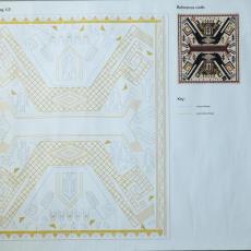 Ontwerpen voor geborduurde wandkleden - Jennifer Tee, Textielmuseum (registratiefoto), Textielmuseum (registratiefoto), Textielmuseum, Textielmuseum (registratiefoto)