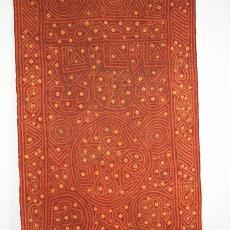 Japanse sjaal met motieven in reserveringstechniek - onbekend