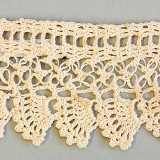 Gehaakte staal 'Parsemé kantje' - G. Oldeman, Textielmuseum (registratiefoto)