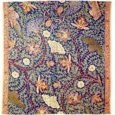 Kledingstof met vogels en bloemen - Textielmuseum (registratiefoto), P.F. van Vlissingen & Co. (Helmond)