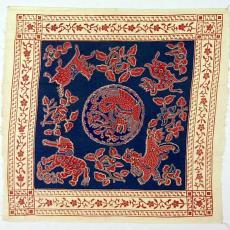 Staal bedrukte kledingstof - Textielmuseum (registratiefoto), P.F. van Vlissingen & Co. (Helmond)