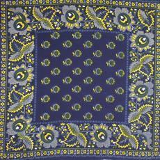 Sjaal, bedrukt met bloem- en bladmotieven - P.F. van Vlissingen & Co. (Helmond)