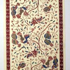 Staal kledingstof met batikmotieven - Textielmuseum (registratiefoto), P.F. van Vlissingen & Co. (Helmond), Textielmuseum (registratiefoto)