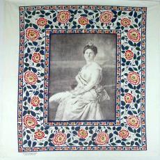 Gedenkdoek, Koningin Wilhelmina - Leidsche Katoen Maatschappij (Leiden), Textielmuseum (Frans van Ameijde / Joep Vogels), Textielmuseum (registratiefoto)
