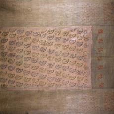 Bidkleed, blokdruk met kalkamotieven - onbekend, Textielmuseum (registratiefoto), Textielmuseum (registratiefoto)