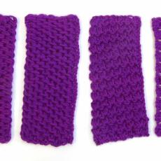 Gehaakte staaltjes (6 stuks) van Tunisch haakwerk - Textielmuseum (registratiefoto), G.H. Duiker (toegeschreven)