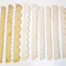 Staaltjes met geborduurde schulpen in feston- en platsteken - Textielmuseum (registratiefoto), G.H. Duiker (toegeschreven)