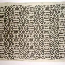 Weef- en drukproef interieurtextiel - Virginie Regnault, Textielmuseum (registratiefoto)