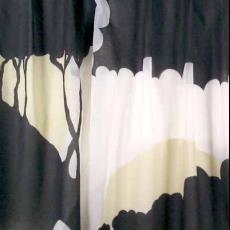 Gordijn heuvels met bomen - Weverij De Ploeg (Bergeijk), Textielmuseum (registratiefoto)