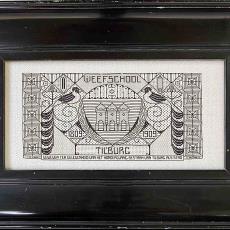Proefstuk 100 jaar Stad Tilburg 1809-1909 - Textielmuseum (registratiefoto), Weefschool Tilburg