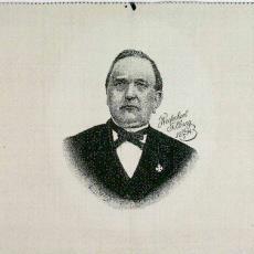 Geweven portret in lijst van J.F. Jansen, burgemeester van Tilburg - Weefschool Tilburg, Textielmuseum (registratiefoto), Textielmuseum (registratiefoto), Louis Meelis
