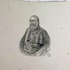 Geweven portret van koning Willem III, in zwart/wit - Rudolf Diepen, Textielmuseum (registratiefoto), Weefschool Tilburg