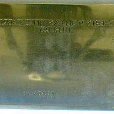 Drukplaat met logo en briefhoofd A&N Mutsaerts - Joh. Enschedé & Zonen (Haarlem), Textielmuseum (registratiefoto)