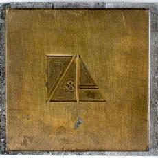 Drukplaat met logo A&N Mutsaerts - Textielmuseum (registratiefoto), Joh. Enschedé & Zonen (Haarlem)