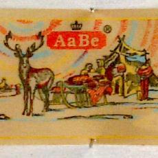 Textieletiket AaBe - Van Engelen & Evers (Heeze), Textielmuseum (registratiefoto), Koninklijke AaBe Wollenstoffen- en Wollendekenfabrieken (Tilburg)