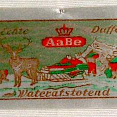 Textieletiket AaBe Duffelstoffen - Textielmuseum (registratiefoto), Koninklijke AaBe Wollenstoffen- en Wollendekenfabrieken (Tilburg), Van Engelen & Evers (Heeze)
