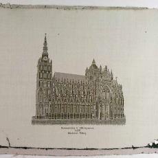 Proefstuk met voorstelling van de St. Jans kathedraal te 's-Hertogenbosch - Weefschool Tilburg, Textielmuseum (registratiefoto)
