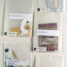 Diverse textieletiketten - Van Engelen & Evers (Heeze), Textielmuseum (registratiefoto)
