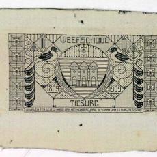Proefstuk 100 jaar stad Tilburg 1809-1909 - Weefschool Tilburg, Textielmuseum (registratiefoto)