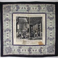 Gedenkdoek De Leidsche Katoenmaatschappij - Textielmuseum (registratiefoto), Leidsche Katoen Maatschappij (Leiden)