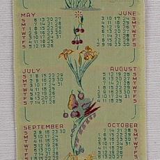 Geweven kalender 1951 Van Engelen & Evers, Heeze - Van Engelen & Evers (Heeze), Textielmuseum (registratiefoto)