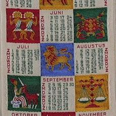 Geweven kalender 1956 Van Engelen & Evers, Heeze - Van Engelen & Evers (Heeze), Textielmuseum (registratiefoto)