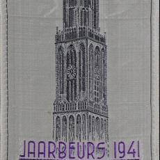 Banier jaarbeurs 1941 - Van Engelen & Evers (Heeze), Textielmuseum (registratiefoto)