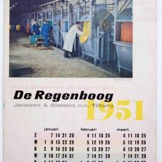 Kalender Textielververij De Regenboog - Sjef van Delft, Textielmuseum (registratiefoto), Textielmuseum (registratiefoto), Boom-Ruygrok (Haarlem)