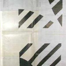Patroontekening tafelgoed met cirkels - Nederlands Textielmuseum, Jan Esman, Ludo Lockefeer