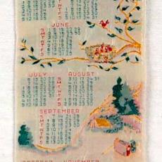 Kalender 1952 - Textielmuseum (registratiefoto), Van Engelen & Evers (Heeze)