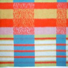 Deken geblokt 'Unicum' - Textielmuseum (registratiefoto), Helmondsche Textiel Maatschappij, Henriëtte Vics