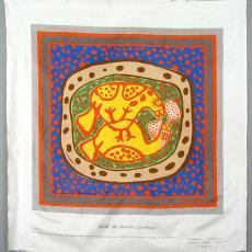 Sjaal 'Les oiseaux', uit de serie 'With the Season's Greetings' - Corneille, Helmondsche Textiel Maatschappij, Texoprint (Boekelo)