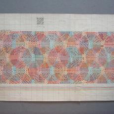 Patroontekening tapijt met cirkels - Textielmuseum (registratiefoto), Van Besouw (Goirle), Diek Zweegman, Premsela Vonk (Amsterdam), Benno Premsela