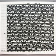 Patroontekening (fotokopie) tapijt 'P.B. 464' - Premsela Vonk (Amsterdam), Diek Zweegman, Van Besouw (Goirle), Benno Premsela, Textielmuseum (registratiefoto)